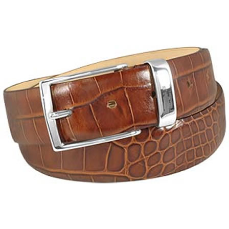 Alligator leather belt