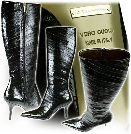 Eel leather boots by Dolce and Gabbana
