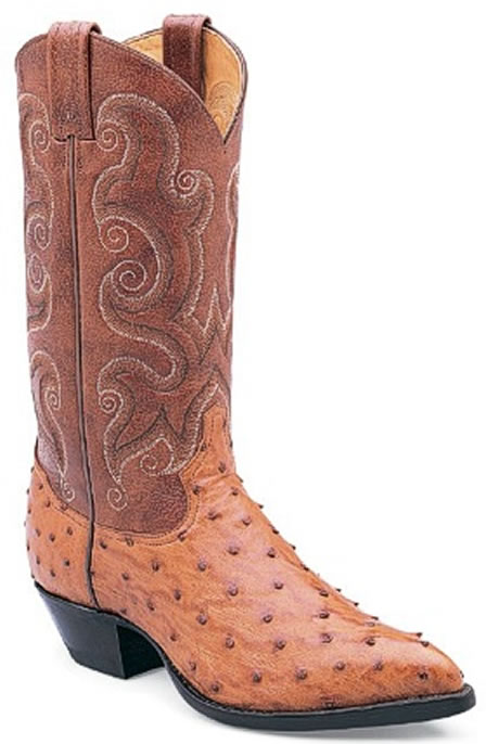 Ostrich leather cowboy boot