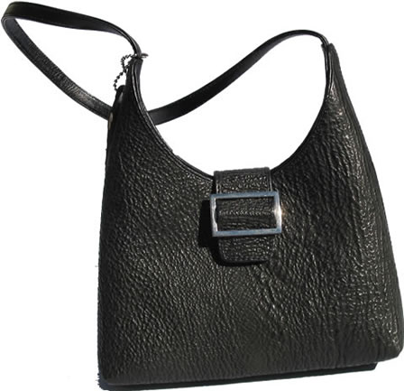 Black shark leather handbag