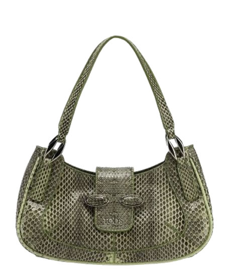 Snakeskin leather handbag by Tods