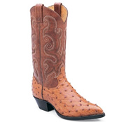 Ostrich leather boot