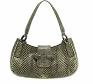 Snakeskin leather handbag